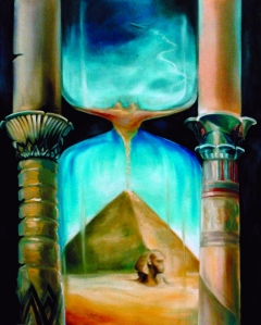 HOURGLASS OF TIME - a painting by Veronica Knox