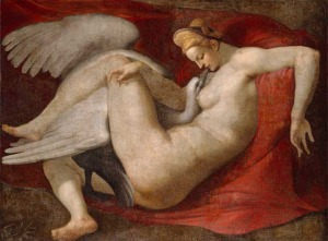 'Leda and the Swan' copied from Michelangelo's lost original by Peter Paul Reubens