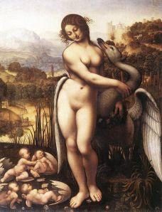 'Leda and the Swan' - a copy from the lost original by Leonardo da Vinci