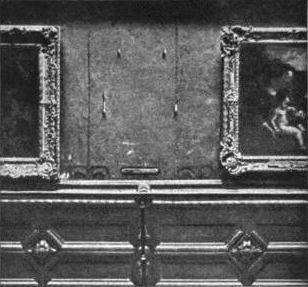 The Louvre, 1911  after the theft of the 'Mona Lisa'