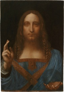 The recently unearthed 'Salvator Mundi' attributed to Leonardo da Vinci