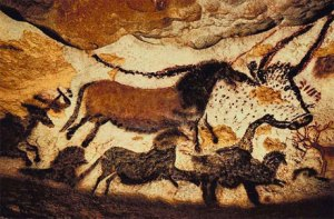 Paleolithic cave painting in Lascaux, France - c. 43,000 B.C.