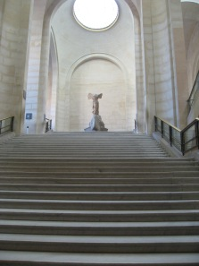 Nike on the Daru staircase in the Louvre.