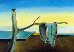 Salvidor Dali's 'The Persistence of Memory' (detail)