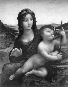 'THE MADONNA OF THE YARNWINDER' – one of several versions attributed to Leonardo's pupils
