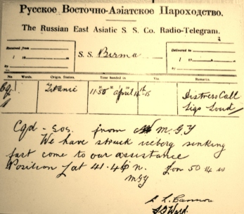 titanic TELEGRAM 2